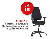 Rubino professionele bureaustoel-Huismerk - Weba