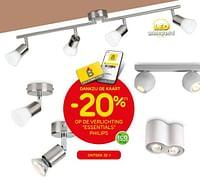 Dankzij de kaart -20% op de verlichting essentials philips-Philips