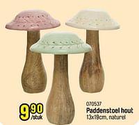 Paddenstoel hout-Huismerk - Happyland