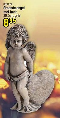 Staande engel met hart-Huismerk - Happyland
