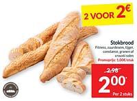 Stokbrood fitness, zuurdesem, tijger, constance, granen of crousti soles-Huismerk - Intermarche