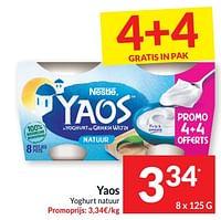 Yaos yoghurt natuur-Nestlé