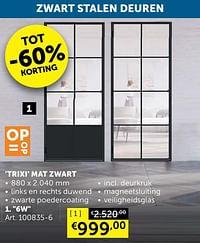 Trixi mat zwart 6w-Huismerk - Zelfbouwmarkt