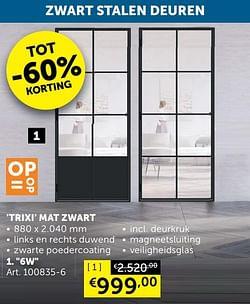 Trixi mat zwart 6w