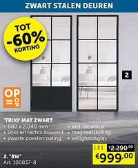 Trixi mat zwart 8w-Huismerk - Zelfbouwmarkt