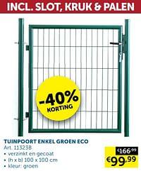 Tuinpoort enkel groen eco-Huismerk - Zelfbouwmarkt
