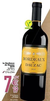 Le bordeaux de dauzac 2019 bordeaux aop-Rode wijnen