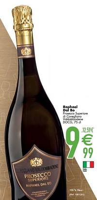 Raphael dal bo prosecco superiore di conegliano valdobbiadene docg-Schuimwijnen
