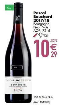 Pascal bouchard 2017-18 bourgogne pinot noir aop-Rode wijnen