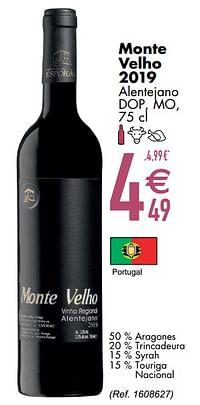 Monte velho 2019 alentejano dop mo-Rode wijnen