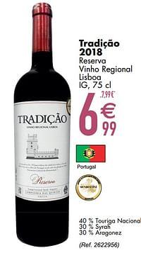 Tradição 2018 reserva vinho regional lisboa ig-Rode wijnen