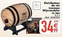 Distributeur de vin tonneau wijnverdeler in ton-Secret de Gourmet