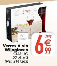 Verres à vin wijnglazen clarillo-Secret de Gourmet