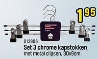 Set 3 chrome kapstokken-Huismerk - Happyland