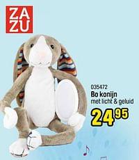 Bo konijn met licht + geluid-Zazu