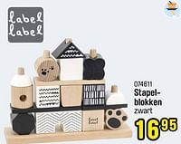 Stapelblokken-Label Label