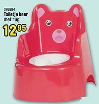 Toiletje beer met rug-Huismerk - Happyland