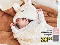 Wikkeldeken bunny off-Jollein