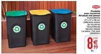 Poubelle avec couvercle afvalbak met deksel ecogreen-Stefanplast