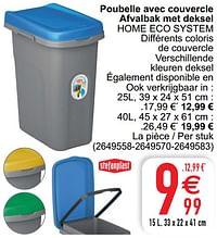 Poubelle avec couvercle afvalbak met deksel home eco system-Stefanplast