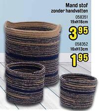 Mand stof zonder handvatten-Huismerk - Happyland