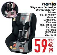 Siège auto - autozitje driver disney-Nania
