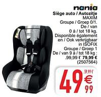 Siège auto - autozitje maxim-Nania