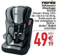 Réhausseur zitverhoger racer-Nania