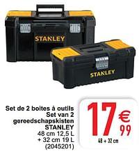 Set de 2 boites à outils set van 2 gereedschapskisten stanley-Stanley