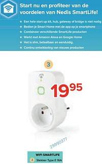Nedis wifi smartlife stekker type e 16a-Nedis