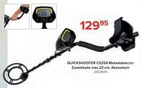 Quickshooter cs250 metaaldetector zoekdiepte-Velleman
