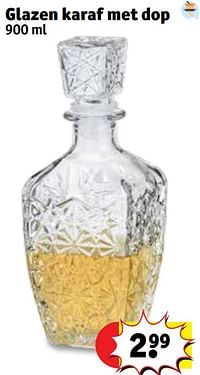 Glazen karaf met dop-Huismerk - Kruidvat