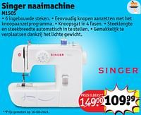 Singer naaimachine m1505-Singer