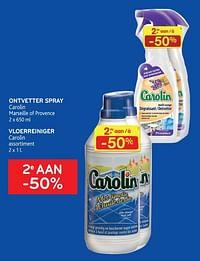 Ontvetter spray carolin + vloerreiniger carolin 2e aan -50%-Carolin
