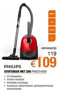 Philips stofzuiger met zak phxd314009-Philips