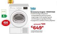 Beko warmptepomp droogkast - bedh8733ga0-Beko