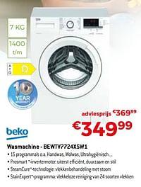 Beko wasmachine - bewtv7724xsw1-Beko