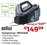 Braun stoomgenerator - bris3046bk-Braun