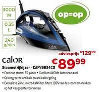Calor stoomstrijkijzer - cafv9834c0-Calor
