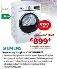Siemens warmtepomp droogkast - sswt48xm40fg-Siemens