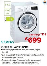 Siemens wasmachine - sswm14n2a1fg-Siemens