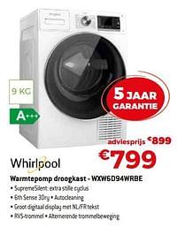 Whirlpool warmtepomp droogkast - wxw6d94wrbe-Whirlpool
