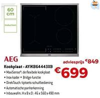Aeg kookplaat - ayikb64443xb-AEG
