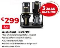 Melitta epos koffiezet - mx6767848-Melitta