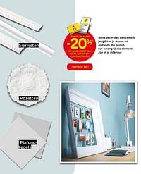 Dankzij de kaart -20% op alle rozetten, sierlijsten en plafondtegels-Huismerk - BricoPlanit
