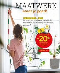 Dankzij de kaart -20% op de stores en gordijnen op maat-Huismerk - BricoPlanit