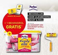 Dankzij de kaart behanglijm voor vliesbehang ready + roll + 1 behangrol gratis-Perfax