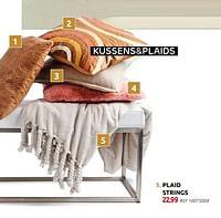 Plaid strings-Huismerk - BricoPlanit