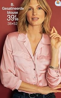 Gesatineerde blouse-Huismerk - Damart