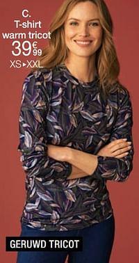 T-shirt warm tricot-Huismerk - Damart